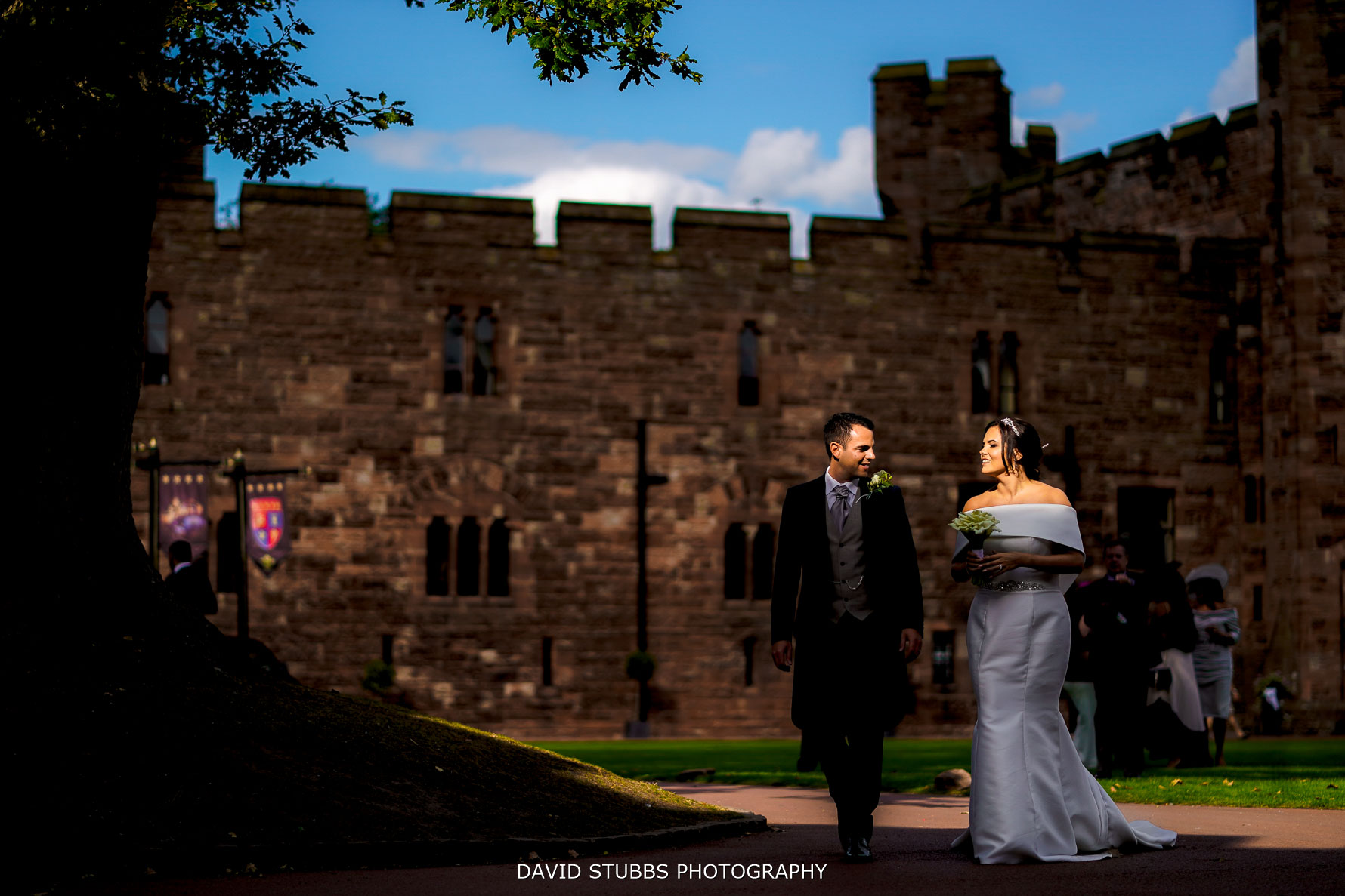 interesting light with peckforton castle as the backdrop