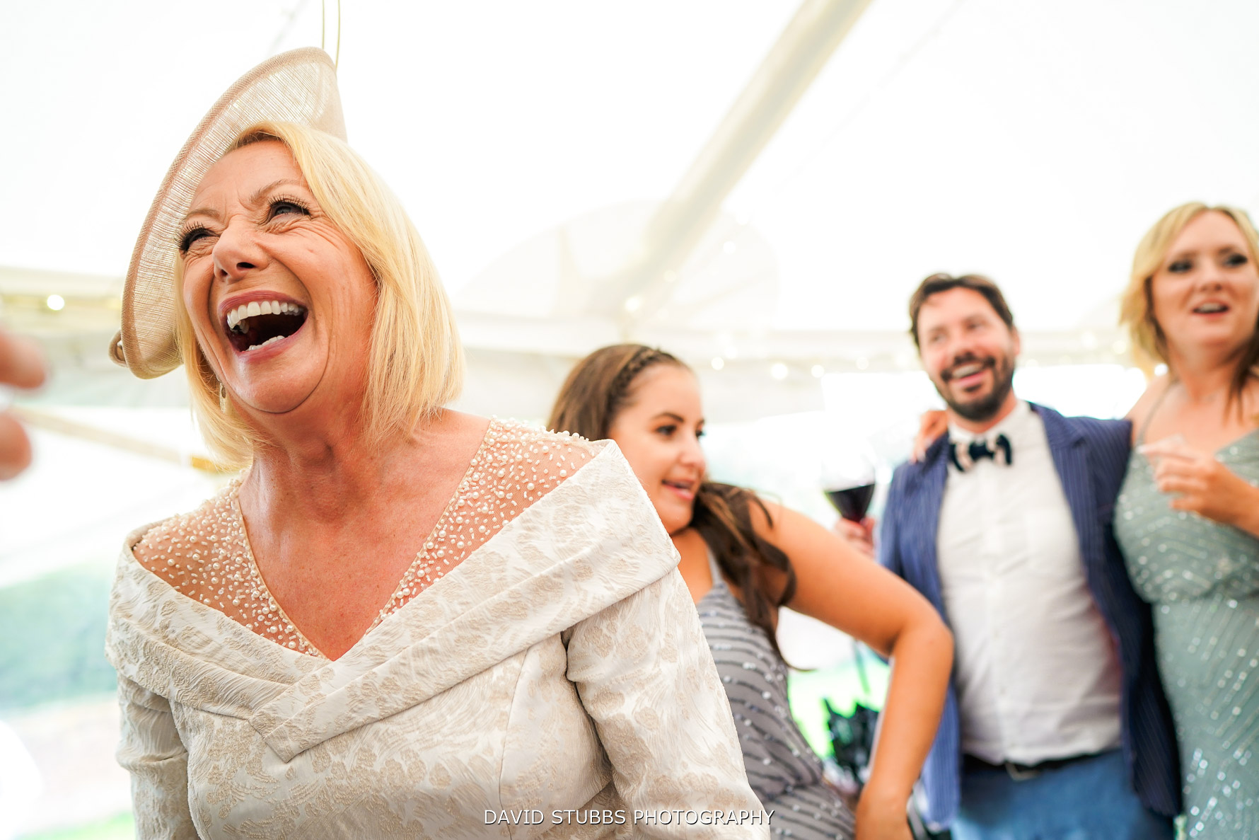 mum having a great time at wedding