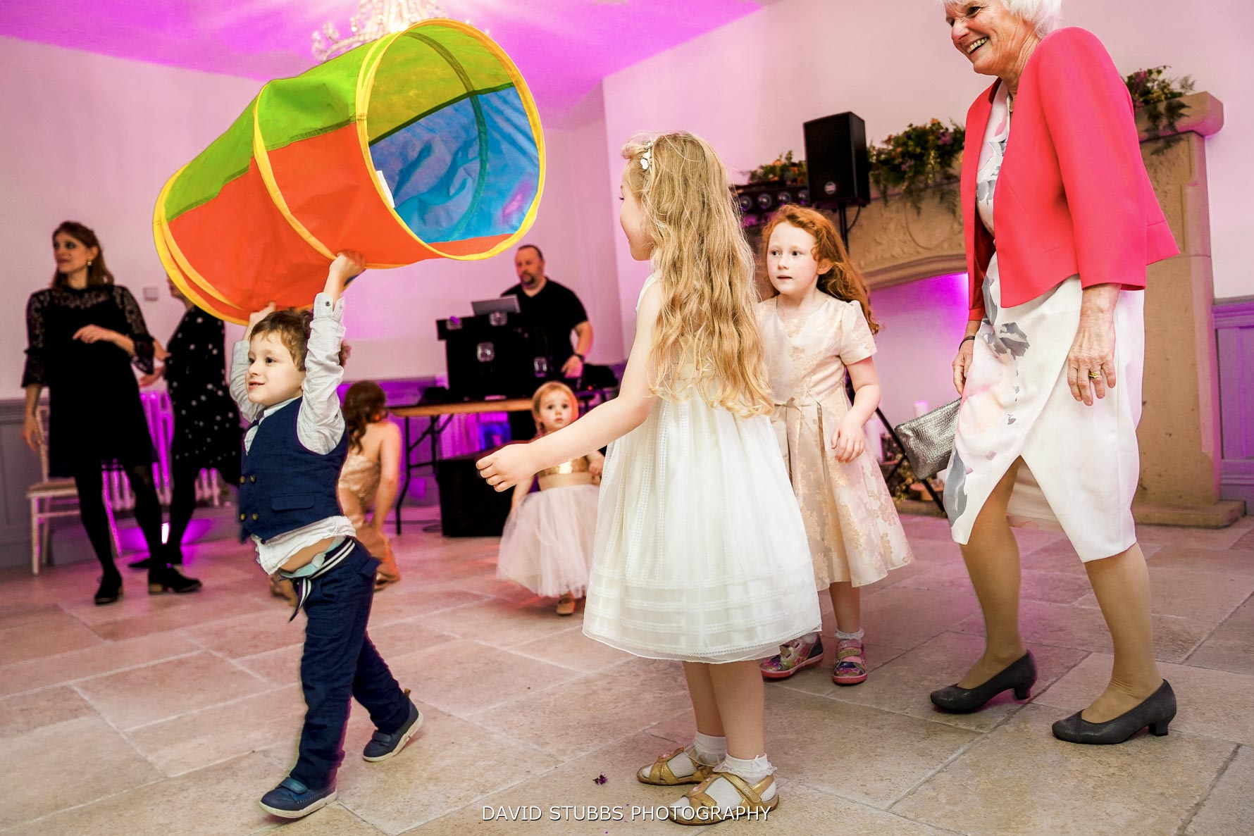 kids playing on the dance floor