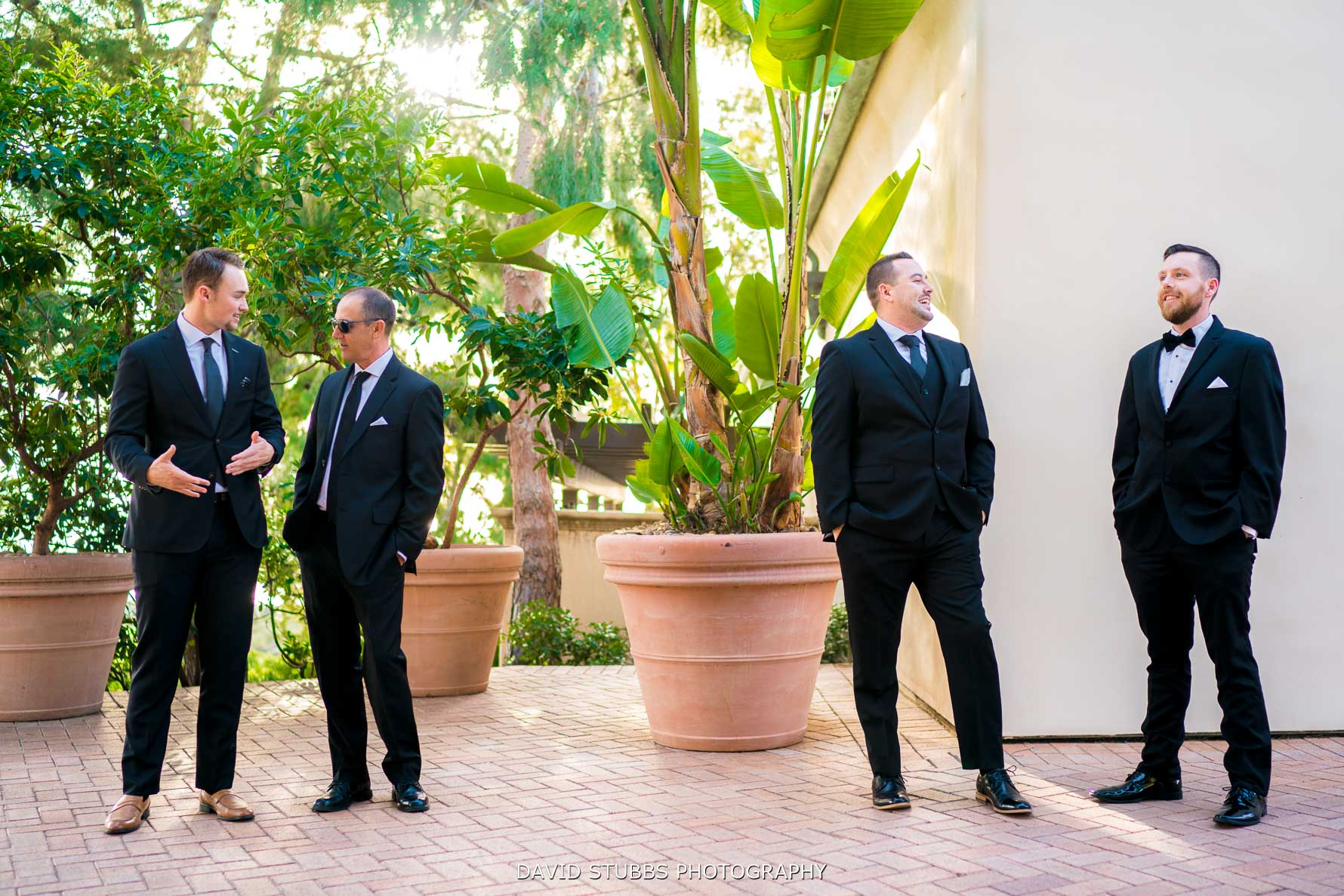 wedding guests waiting