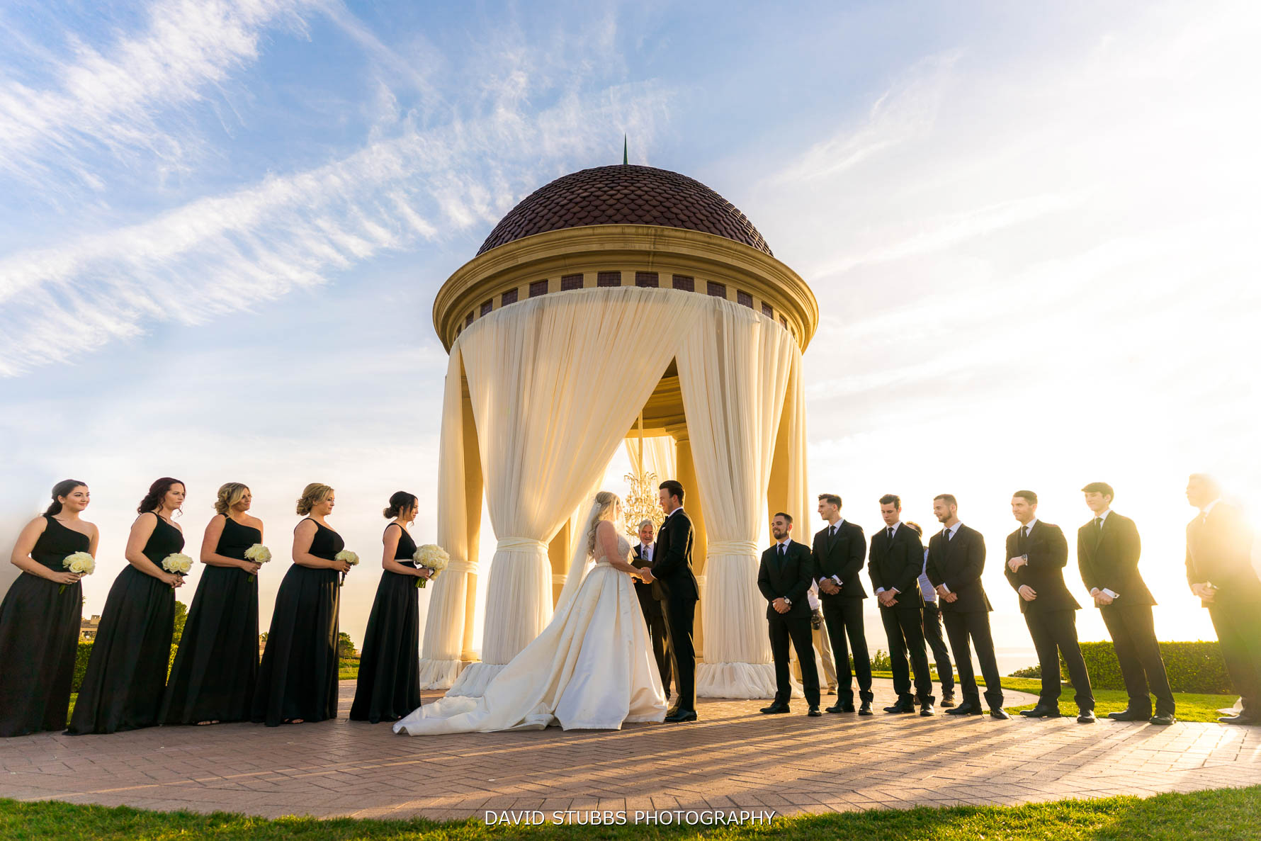 wedding photo of pelican hill resort ceremony
