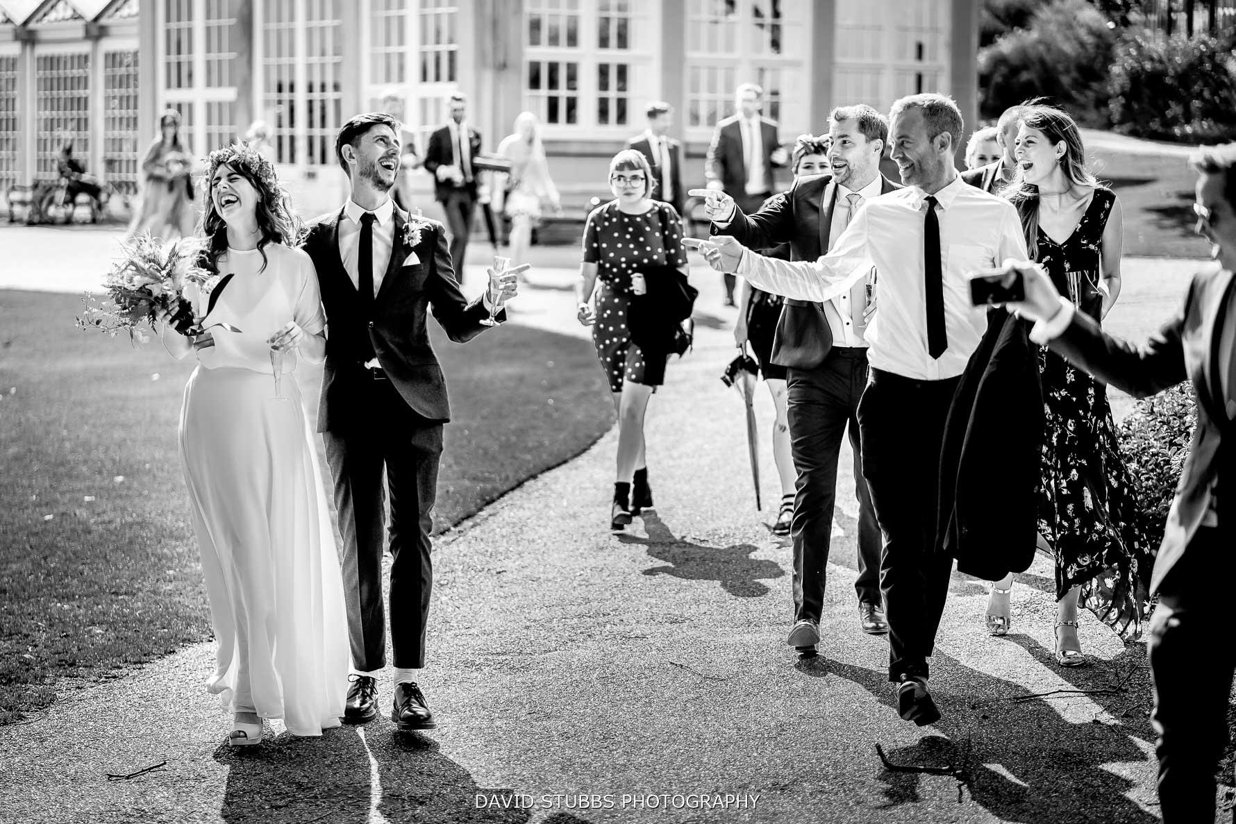 wedding couples reaction