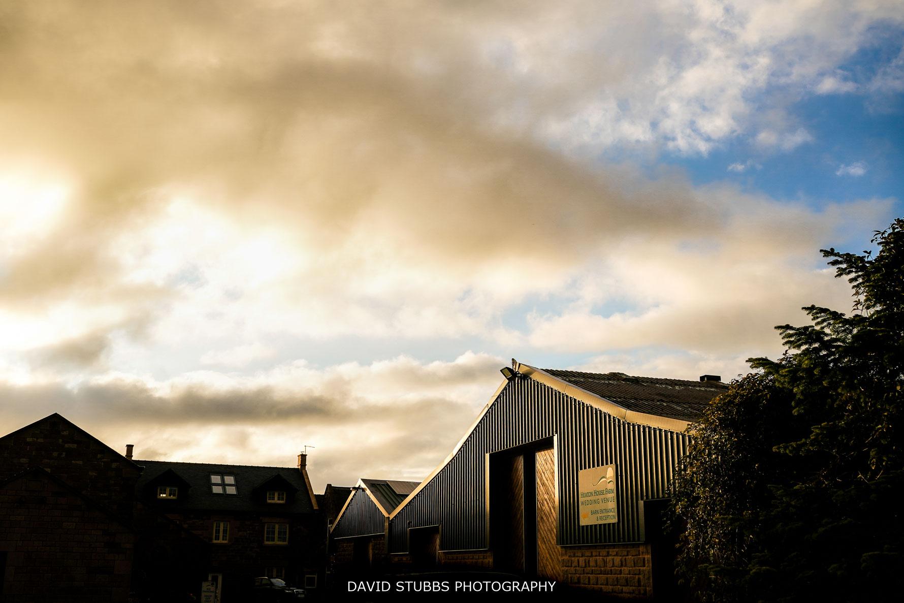 heaton house farm in sun light