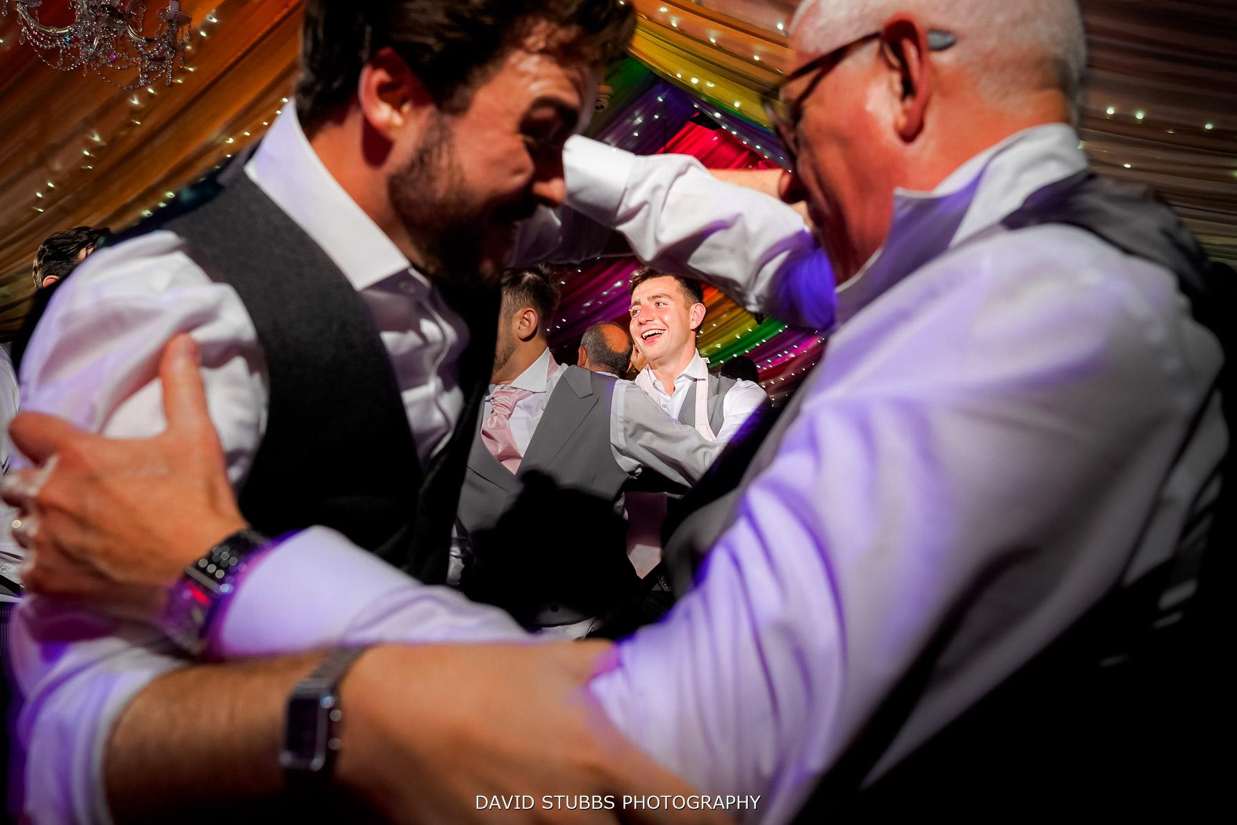 shoot through wedding photo