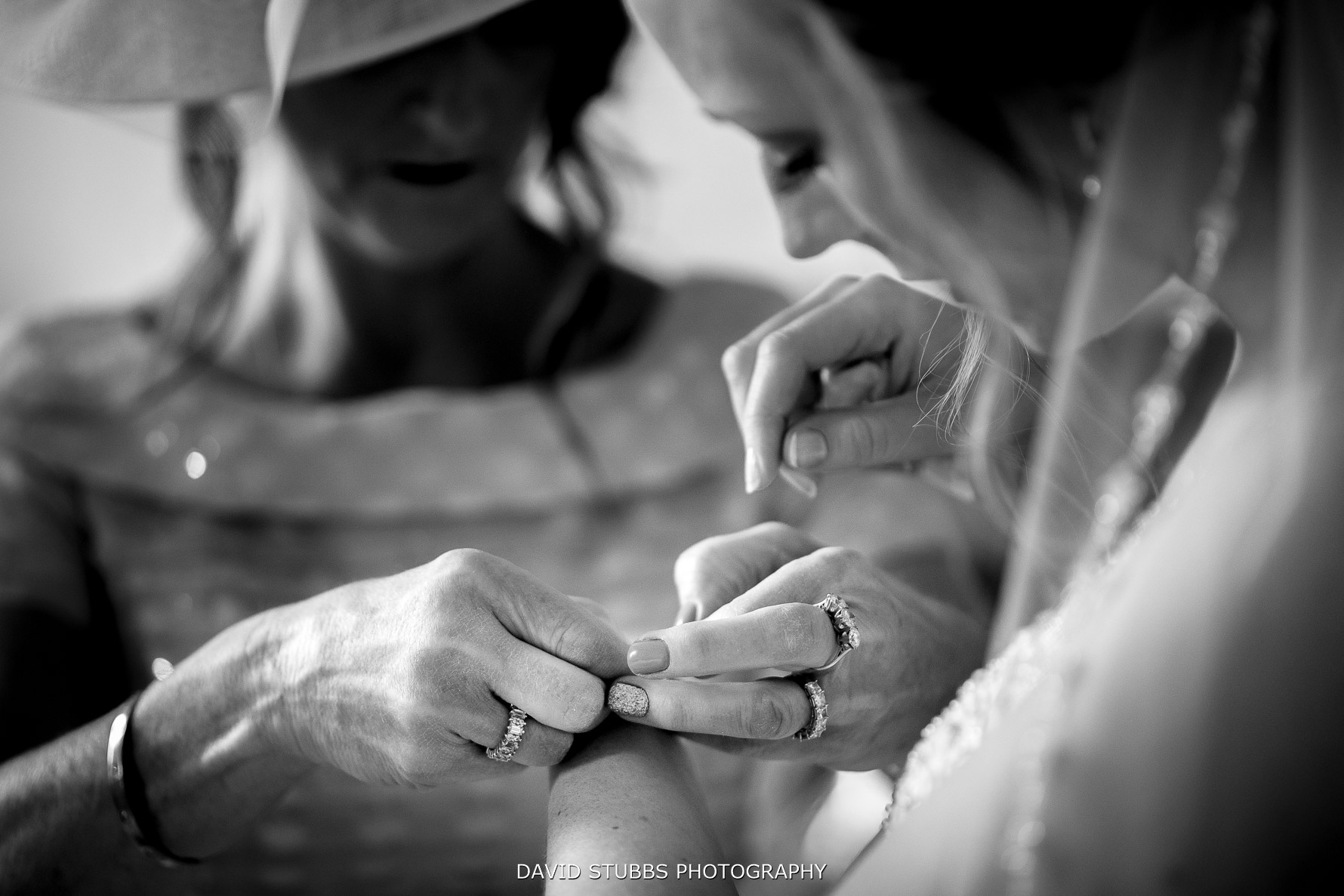 wedding rings and bracelet