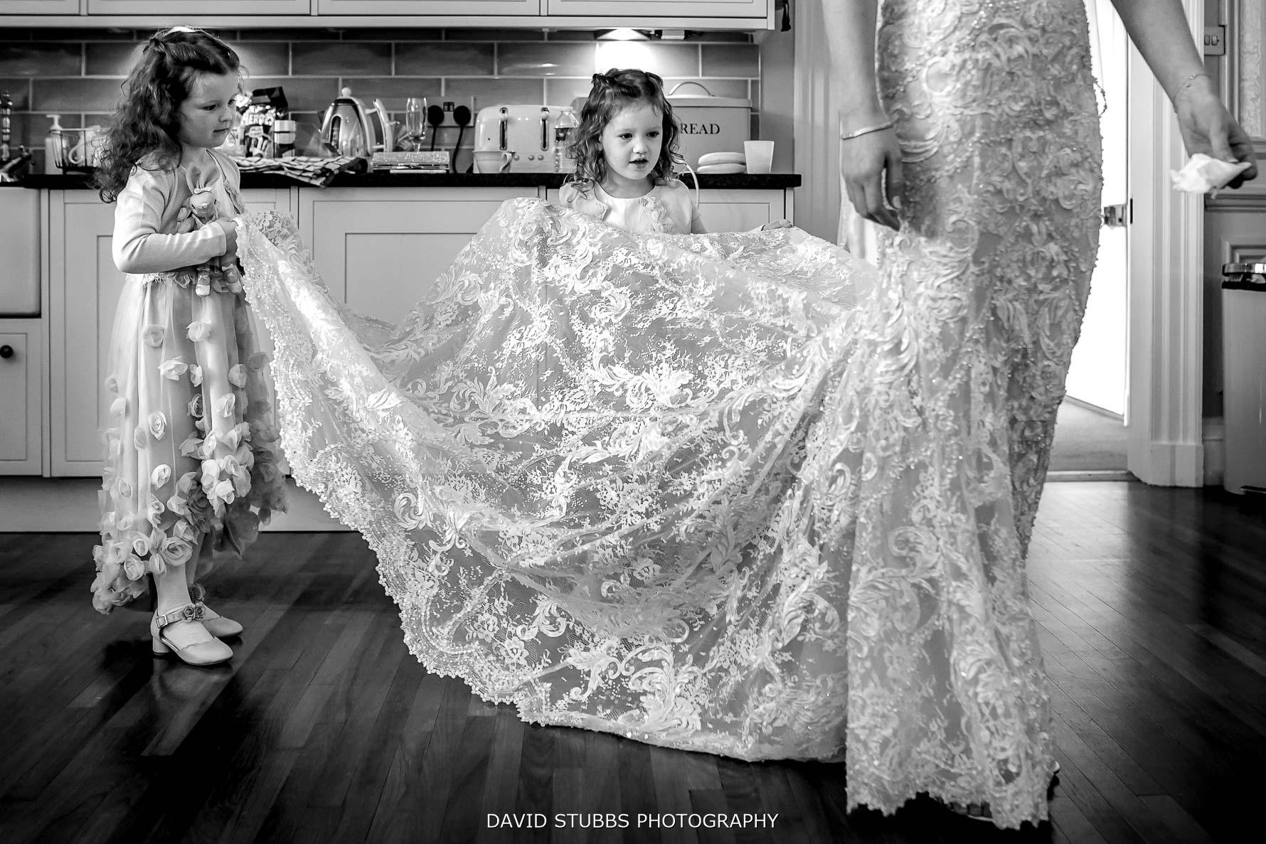 wedding dress at lingholm estate