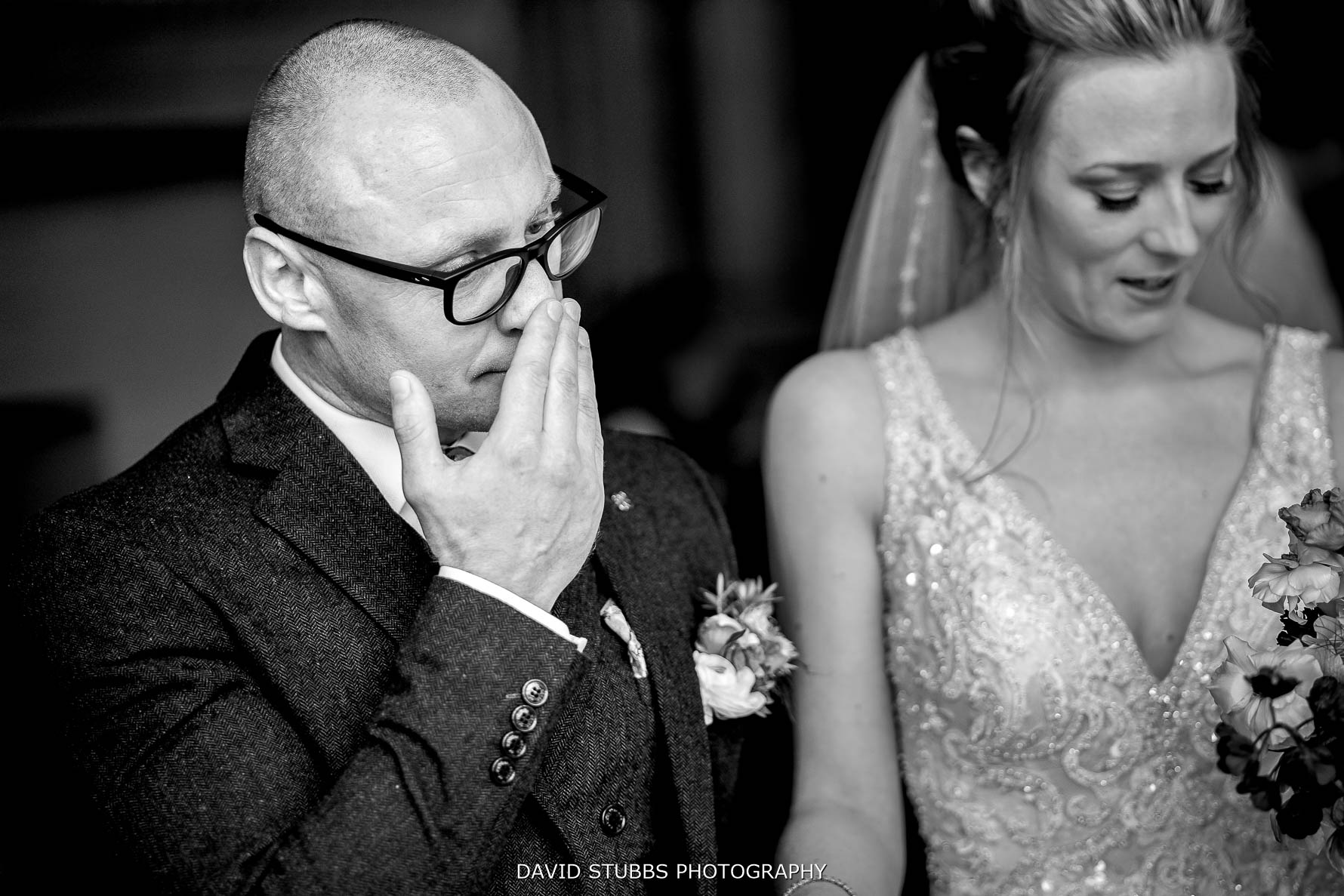 grooms reaction to their wedding