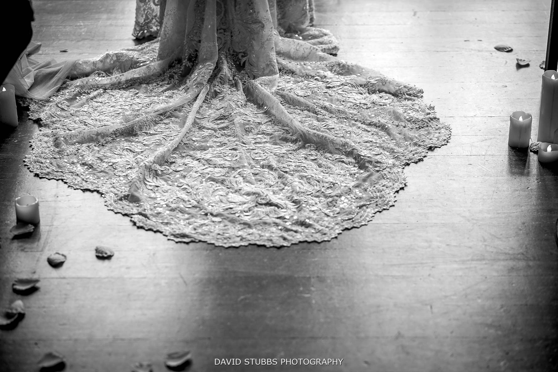 wedding dress photo during vows