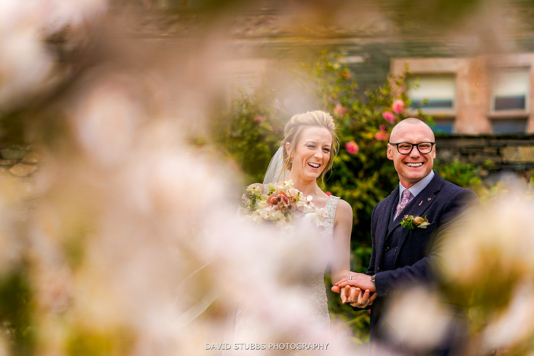 wedding photo at lingholm estate in the lakes
