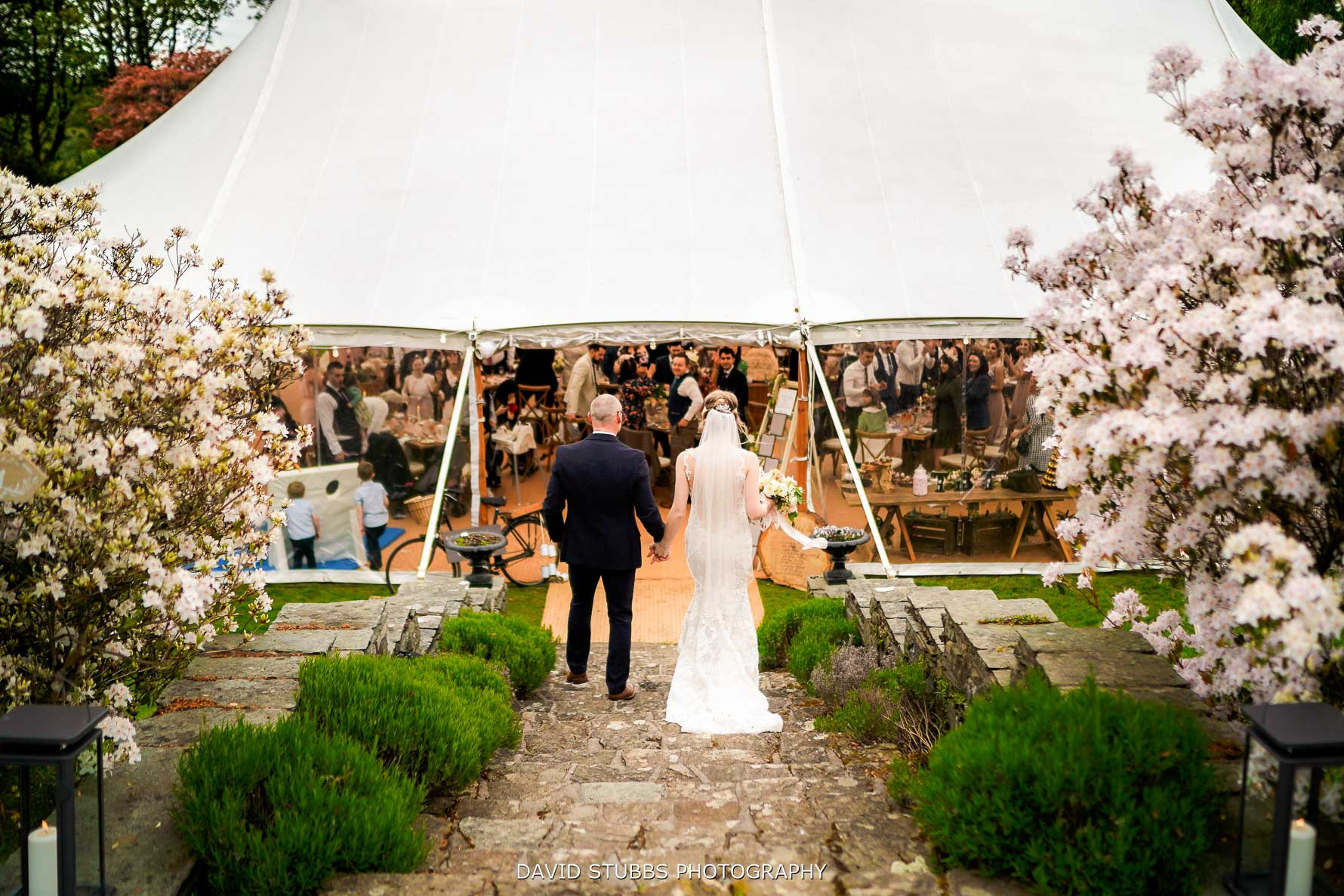 entering the tipi or marquee