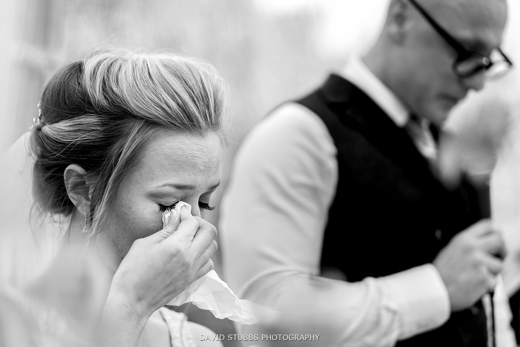 close up tears of bride