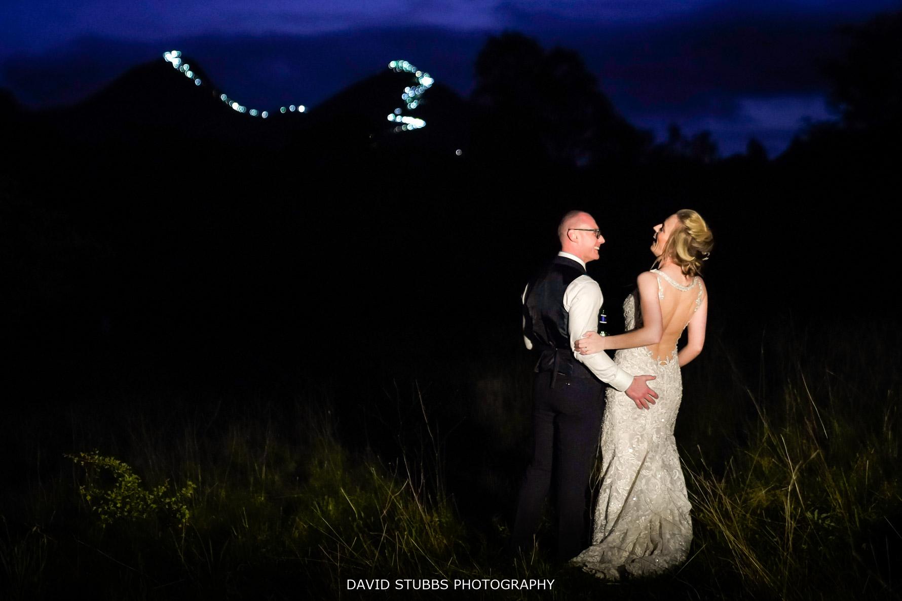 catbells lights lake district wedding