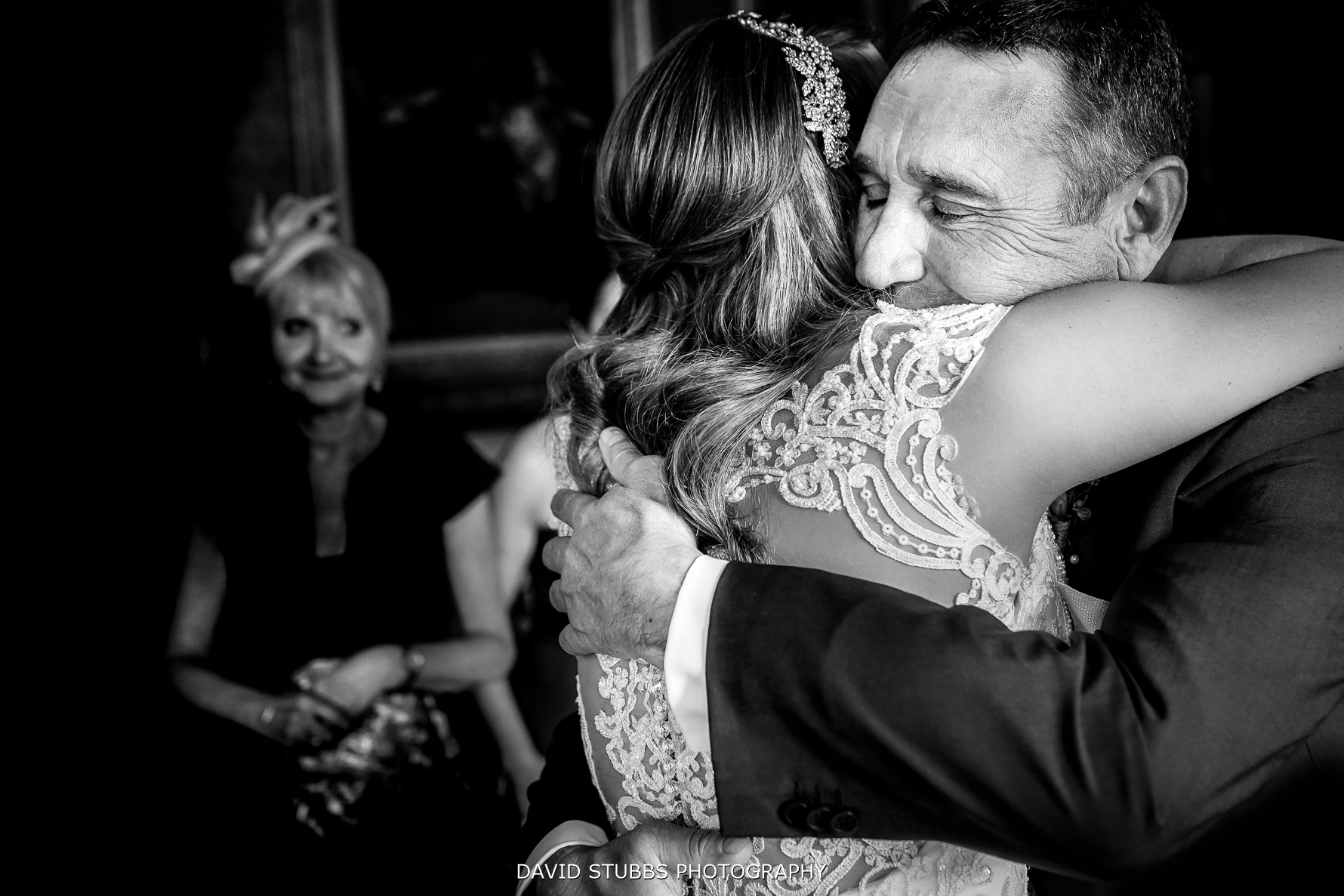 big hugs with father of the bride