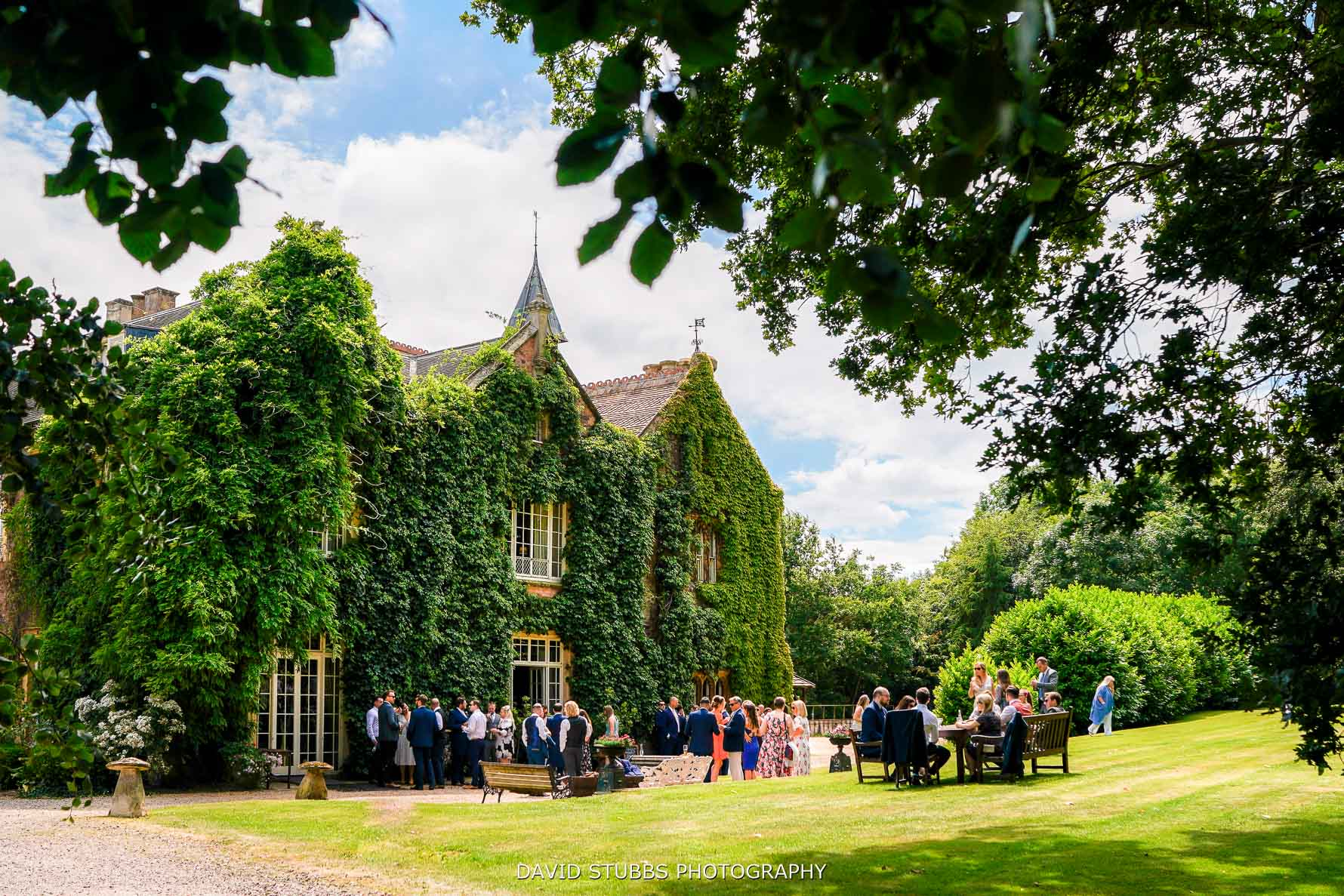 maunsel house wedding reception in the garden