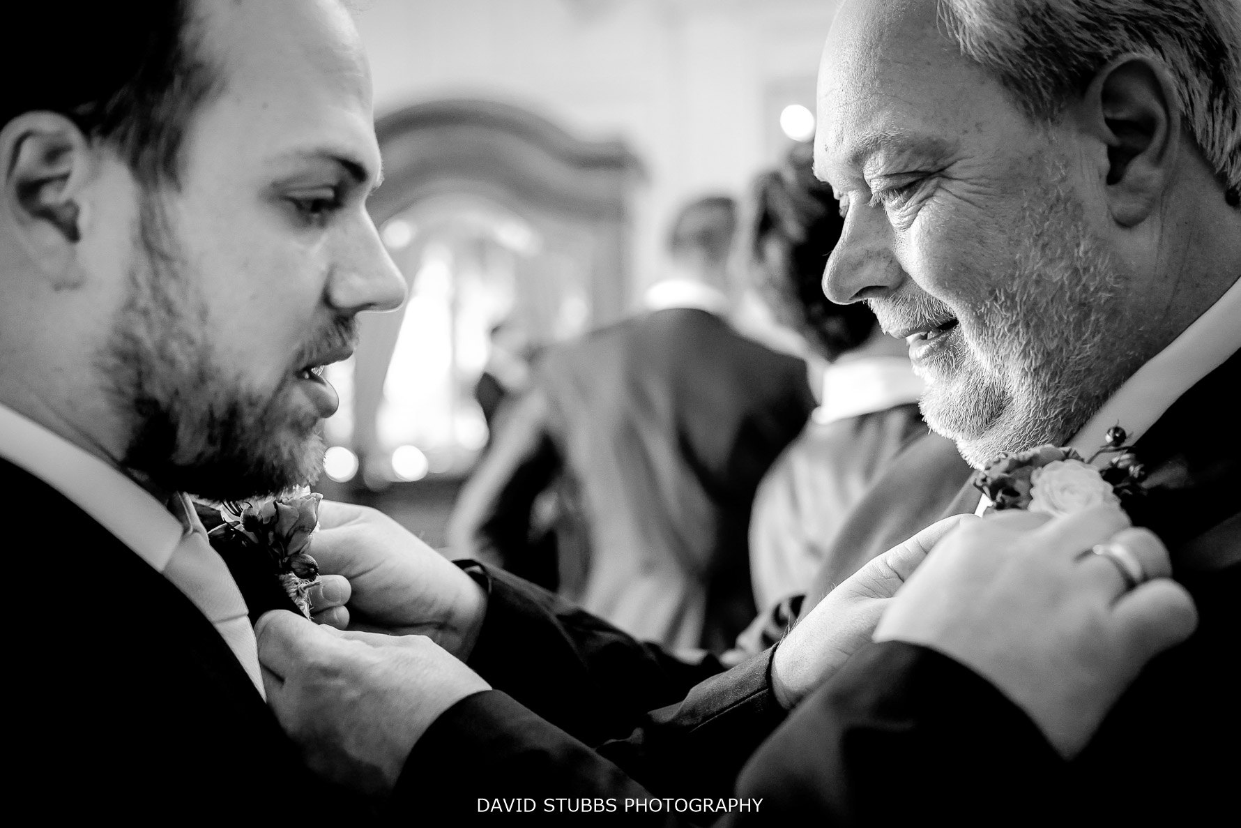 groom and dad