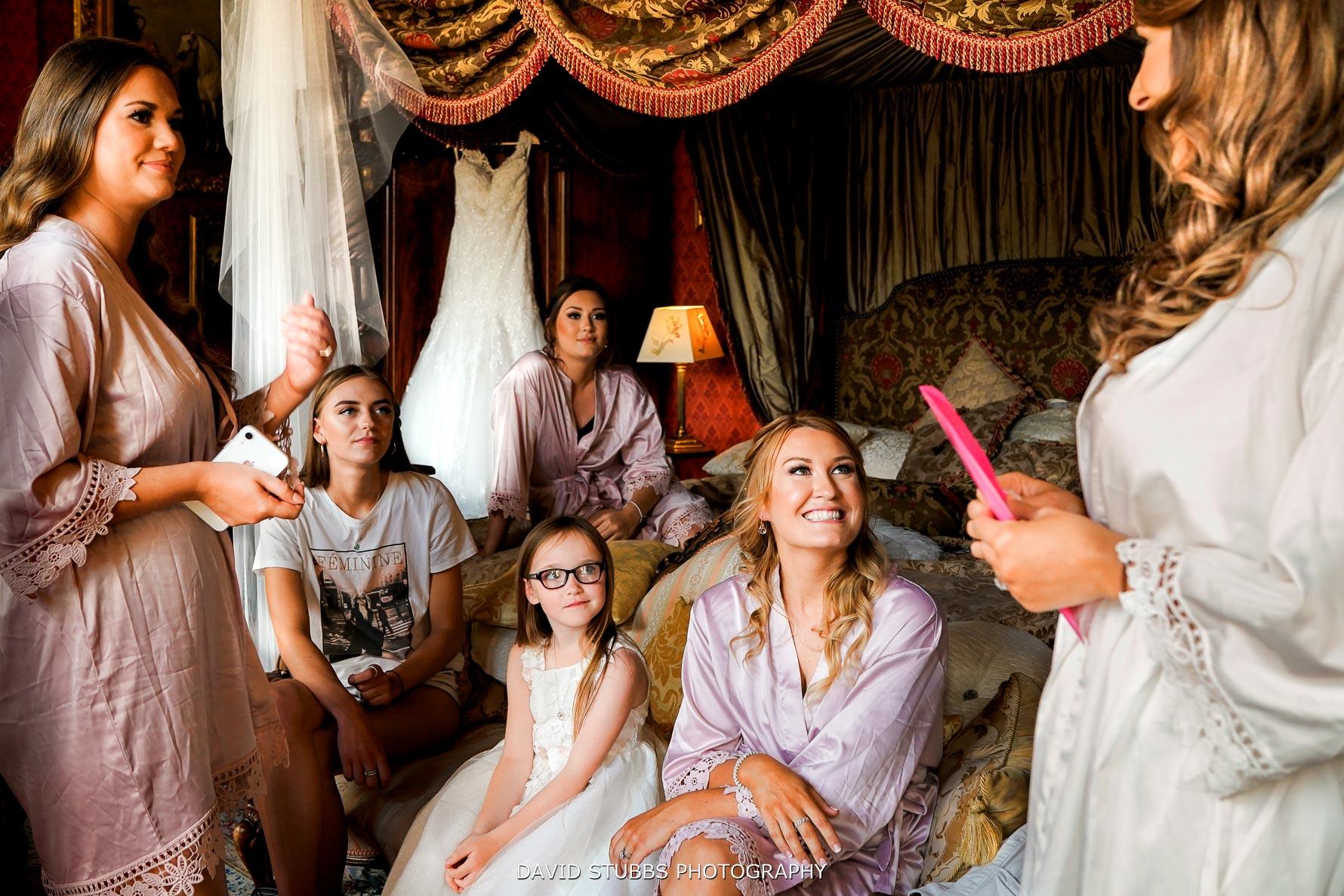 bridal preparation layered photo