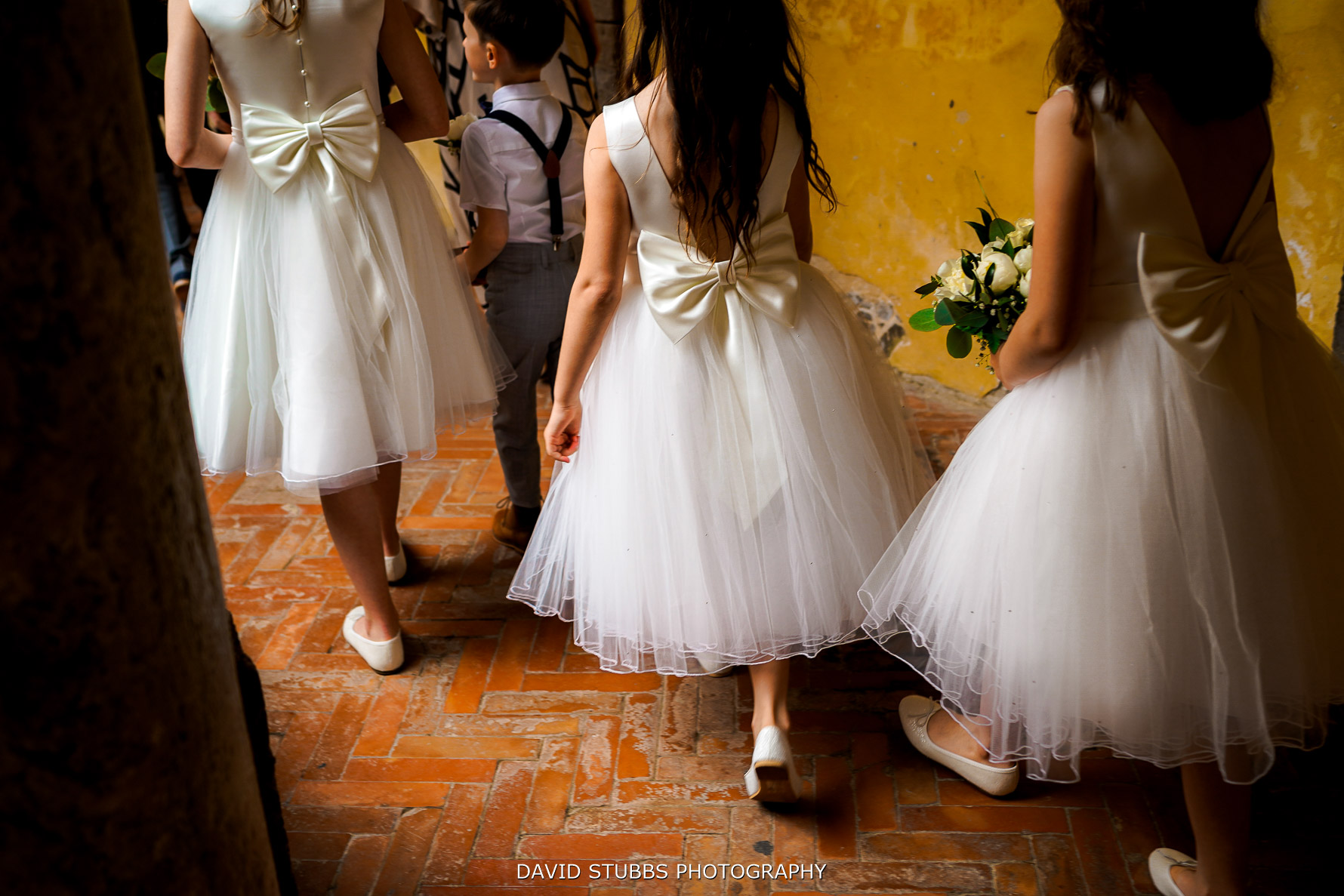 details of flower girls wedding dresses